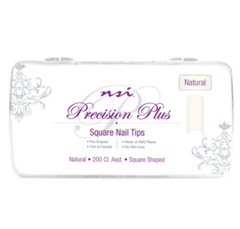 Precision Plus Natural Nail Tips 200stuks Square