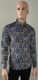 Bewerkt overhemd Blauw