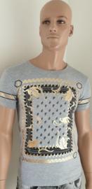Grijs T-shirt met opdruk