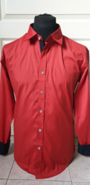 Slim fit overhemd Rood