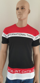 Shirt Rood-wit