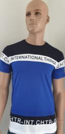 Shirt kobalt blauw