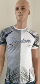 Shirt Wit-Grijs Freedom