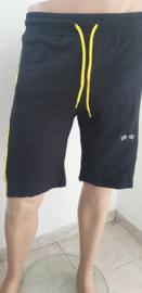 Bermuda ( joggingstof ) gele bies