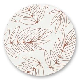 Sticker Botanical bruin   10 stuks