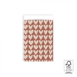 Cadeauzakjes 10 stuks middel hearts 12 x 19 cm