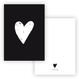 kaart hart - wit
