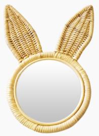 Rotan spiegeltje konijn 35 cm