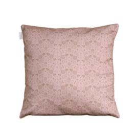 Kussenhoes bloemen dessin donker roze