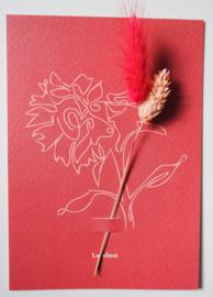 Bloemenkaart  Raspberry Swirl