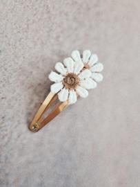 Haarspeldje 5 cm Daisy brown
