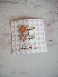 Haarspeldje combi bloemetjes (2 stuks)