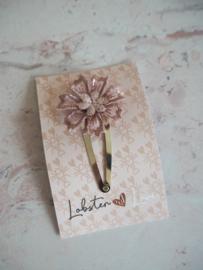 Haarspeldje 5 cm lila bloem