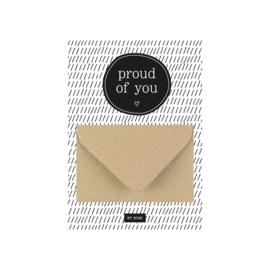 Geldkaart Proud of You