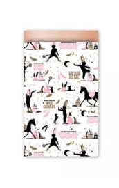 Cadeauzakjes Sint (12 x 19) roze/goud/blush (10 stuks)
