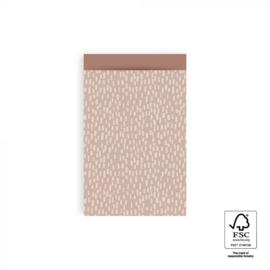 Cadeauzakjes 10 stuks middel Sparkle pink blush 12 x 19 cm