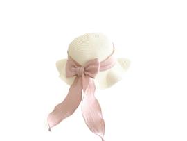 Mrs. Ertha strohoed - Vanilla Straw - blush + Ivory