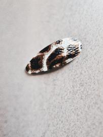 Haarspeldje 5 cm Leopard ecru (1 stuk)