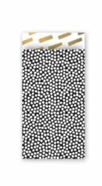 Cadeauzakjes Cozy Cubes (7 x 13) zwart/wit/goud (10 stuks)