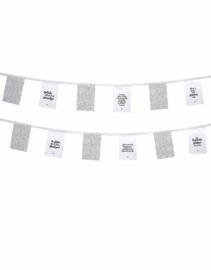 Vlaggenlijn voor buiten wit stippenpatroon en teksten