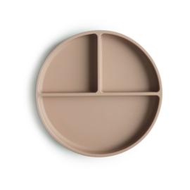 "Mushie - Silicone plate / bord ""Natural"""