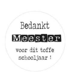 Sticker: Bedankt meester voor dit toffe schooljaar! (4 stuks) - EsvaDesign