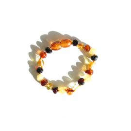 Baltic Natural Amber baby armband/enkelet - Mix
