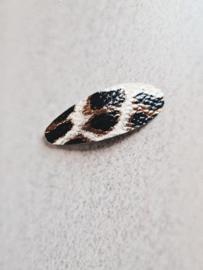 Haarspeldje 5 cm Leopard beige (1 stuk)