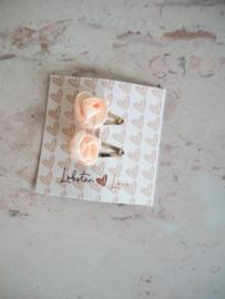 Haarspeldje roosjes (2 stuks)