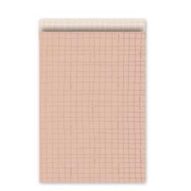 Cadeauzakjes Wishing you the Best (17 x 25) roze/goud/blush (10 stuks)