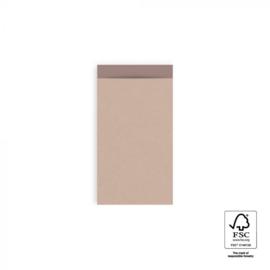 Cadeauzakjes 10 stuks klein Kraft pink 7 x 13 cm