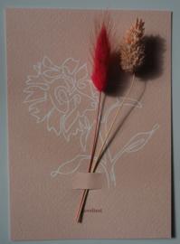 Bloemenkaart Stylish Pink