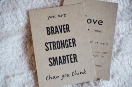 Self-love quote card | You are...