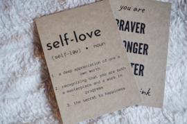 Self-love quote card | Self-love...