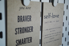 Self-love quote kaart | Self-love...