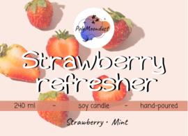 Latte kaars | Strawberry refresher