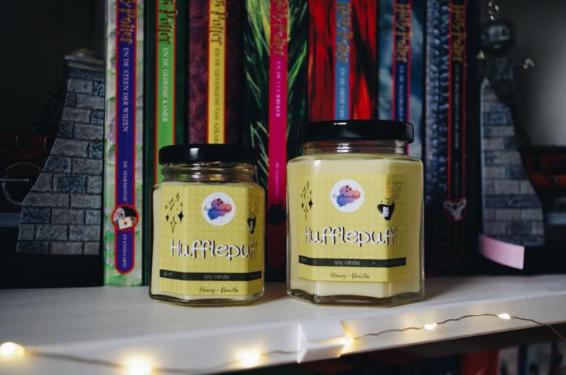 Hufflepuff 90 ml | Harry Potter geïnspireerde soja wax kaars