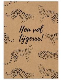 Hou vol tijger - Ansichtkaart - giveX