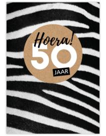 hoera 50 - Ansichtkaart - giveX