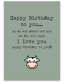 Happy Birthday- Ansichtkaart - giveX