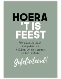 hoera feest - Ansichtkaart - giveX