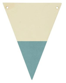 Houten vlaggenlijn grijsblauw