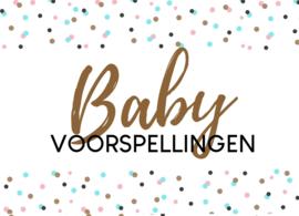 Babyshower invulkaarten