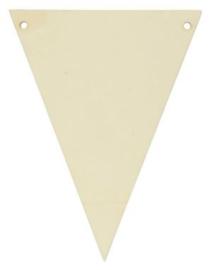 Houten vlaggenlijn blanco