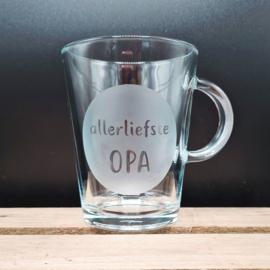 Glas allerliefste PAPA of OPA