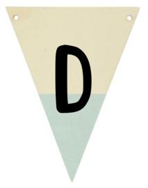 Houten vlaggenlijn mint
