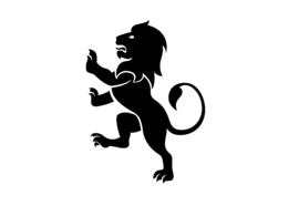Strijkapplicatie Staande leeuw