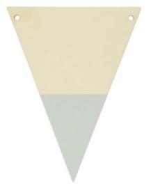 Houten vlaggenlijn lichtgrijs