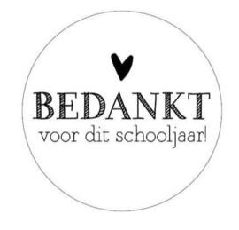 Stickerset 'Bedankt voor het schooljaar' wit