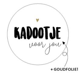 """Sticker 'Kadootje voor jou"""""""